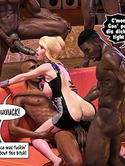 Gon' put all'a dis dick up yo' tight ass - Interracial 3D by Dark Lord